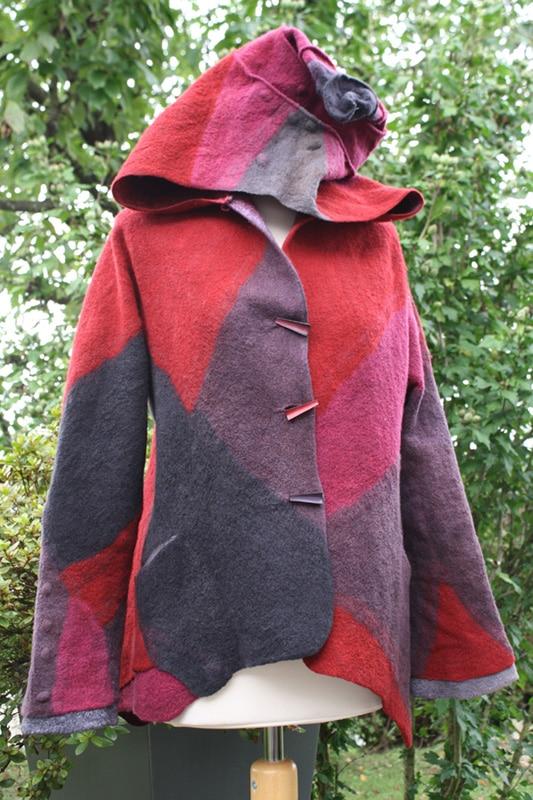 Jacke/Mantel mit oder ohne Kapuze Intensive Auseinandersetzung mit Bekleidungsfilz
